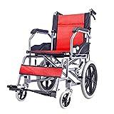 Transportrollstühle Rollstuhl, zusammenklappbarer, atmungsaktiver Cellular Mesh Trolley, Seniorenreisecooter, Vollgummireifen, mit Pedal und Handbremse, für Erwachsene, Behinderte, Senioren