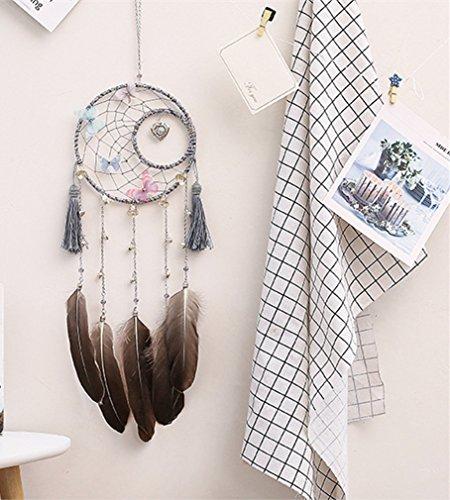 MIRUIKE Dream Catcher avec plumes Perles Décoration à suspendre murale Creative Cadeau Décorations pour chambre à coucher, fête