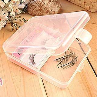 IGEMY Eyelashes Case Storage Mirror Box Fake Eye Lashes Magnetic And Non Magnet (Clear)