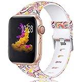 Zekapu Bracelet Compatible avec Apple Watch 38mm 42mm 40mm 44mm pour Femmes Hommes,...
