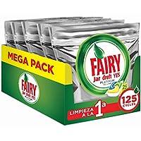 Fairy Platinum Limón Cápsulas Todo en 1 para Lavavajillas - 125 cápsulas (5 x 25)