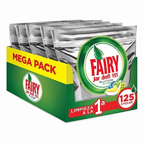 Fairy Platinum Limón Cápsulas Todo 1 Lavavajillas