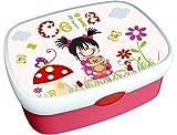 Brotdose Kindergarten Mädchen mit Name, Schule, Kita, Pink, Rosa, personalisiert, Lunchbox, Brotzeitdose, Vesperdose, Vesperbox, ginidesign
