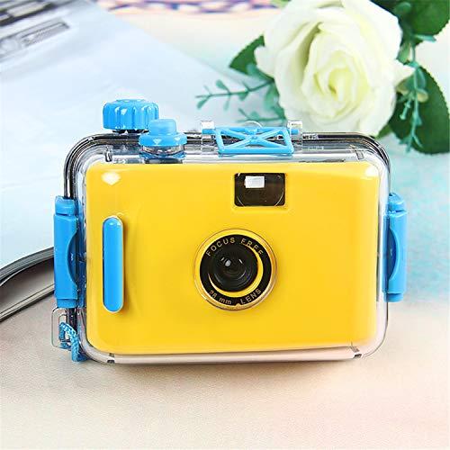 BABIFIS Kinderkamera Einwegkamera Filmkamera LOMO Kamera wasserdicht und stoßfest (Keine Batterie erforderlich) Yellow
