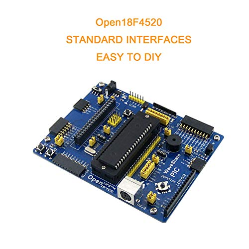pzsmocn Open Source Electronic Module Pic Development Board, Open18F4520 Development Board Kit, with Pic18F4520 As Microcontroller, with Various Standard Interfaces, Support Various Modules Access (Pic Development-board)