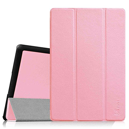 Fintie Dell Venue 8 Pro (Windows 8.1) Hülle Case - Ultra Schlank Superleicht Ständer SlimShell Cover Schutzhülle Etui Tasche für Dell Venue 8 Pro 5000 Series / New Venue 8 Pro 3000 Series (2014) Windows 8.1 tablet, Rosa