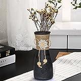 Tiedribbons® Glass Flower Vase(18 Cm X 7 Cm X 7 Cm) | Glass Vases For Home Decor | Glass Vases For Living Room | Home Decor Item | Decorative Items For Home Decoration