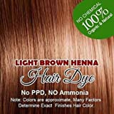 Organic Henna hair LIGHT BROWN color Henna hair: 100% Organic and Chemical Free Henna for Hair Color Hair Care 60 g.