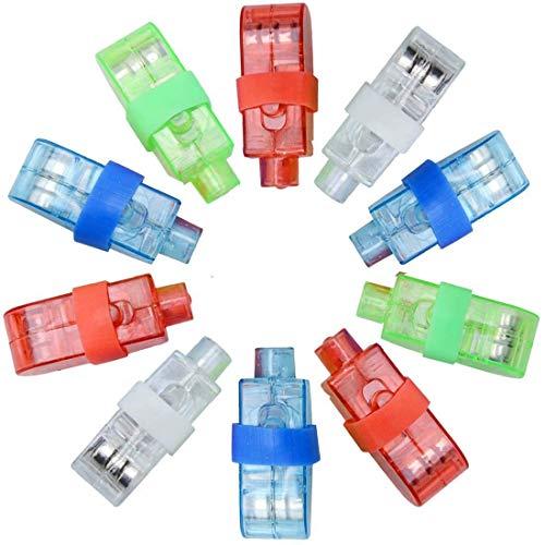 Simplehouse LED-Finger-Lichter, hell, beleuchtete Spielzeuge, 100 LED-Finger-Lampen, Party-Taschenlampe, Spielzeug für Nachtclub, Konzert, Halloween, zufällige Farbe