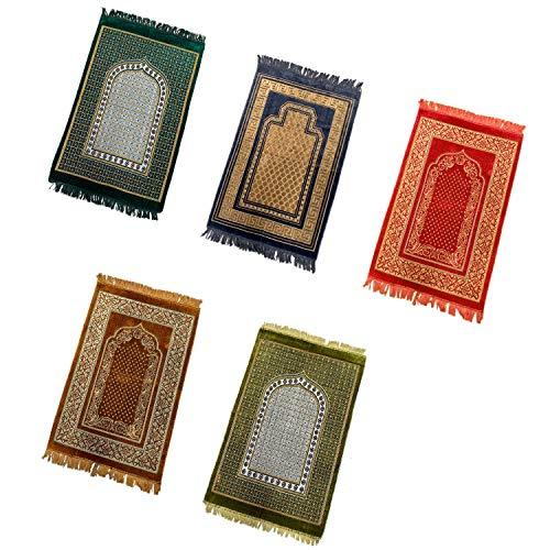 110 x 65cm Orientalischer Gebetsteppich mit Mihrab Motiv Seccade Sejjada Namazlik Namaz Islam Orientteppich in diversen Farben