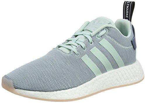 adidas Damen NMD_R2 Gymnastikschuhe, Grau (Raw Steel S18/ash Green S18/ftwr White), 40 EU