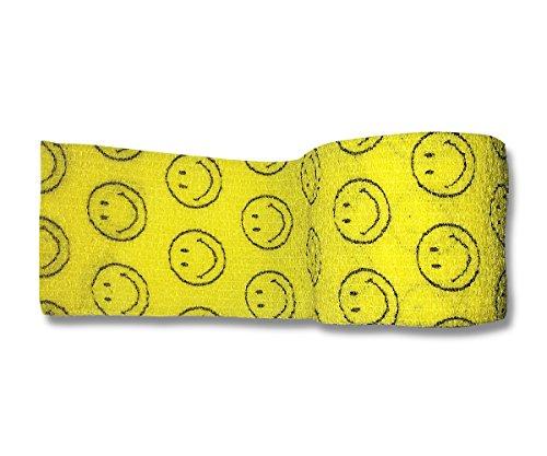 lisacare-fixierbinde-5cm-x-45m-2er-set-smiley-gelb-kohasive-bandage-wundverband-pflasterverband-elas