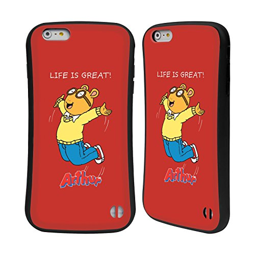 Ufficiale Arthur Lifes A Beach Personaggi Case Ibrida per Apple iPhone 6 Plus / 6s Plus Saltare