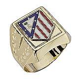 Sello escudo Atlético de Madrid oro de ley 9k grande hueco [6999] - Modelo: 0520-033