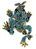 Diseño de madera envejecida Marine tono de oro azul y brillantes decorativos anillo de...