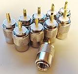 10 X Bidatong PL-Stecker mit Goldstift PL-259/9 für RG-213 - 1,79 € / Stck.
