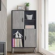 Maison Concept Montero Cabinet, Black and Grey - H 1400 x W 340 x D 800 mm