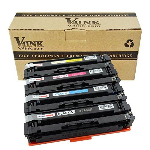 Preisvergleich Produktbild v4ink Toner ersetzt HP 201X (CF400X) CF400X für HP Color LaserJet Pro M252n, M252dw, MFP M277n, MFP M277dw, M274n, M274dw Drucker, 2800 Seiten für Schwarz, 2300 Seiten für je Farbe, 4 Stück