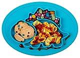 Qshare - Piastre per neonati in silicone, piastre per bambini portatili per bambini, aspirazione potente su tavola, lavastoviglie e microonde sicura dalla FDA