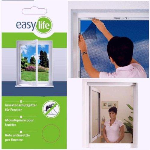 Zanzariera per finestra protezione insetti finestra accorciabile 300 x 150 cm