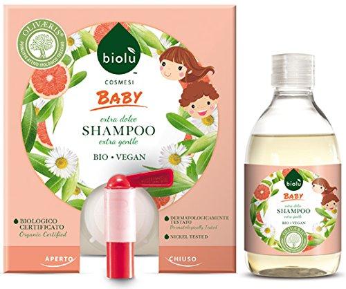 biolù Baby Shampooing Bio délicat pour enfants à la fiche 10 Lt Jerrican délicat