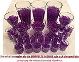 8200 Stück Wasserperlen Crystal Erde – Wasserkugeln Vasenfüller Dekoration Deko – 200Gramm –– für Pflanzen/Glase/Vase – Perlen Kugeln 11-15mm Durchmesser – circa 25 Liter - VIOLETT
