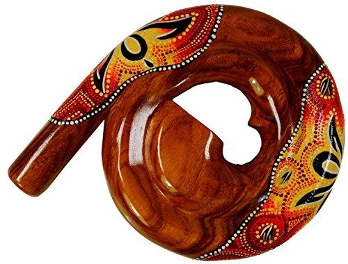 Guru-Shop Rundes Didgeridoo (Holz), Suarholz, 28x30x4,5 cm, Musikinstrumente