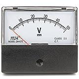 heschen rechteckig Voltmeter Analog Panel Volt Spannung Meter 670Stil DC 0–50V Klasse 2.0