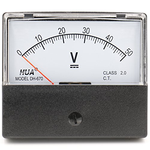 heschen rechteckig Voltmeter Analog Panel Volt Spannung Meter 670Stil DC 0-50V Klasse 2.0 - Dc Analog Voltmeter-panel