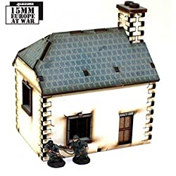 15mm Pre Painted Game Terrain ( Post ) Napoleonic Cookhouse