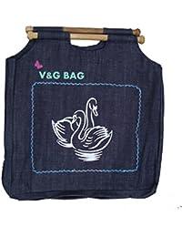 Multipurpose Washble Denim Grocery Bag/Fruit Vegetable Bag/General Use Bag/Shopping Bag/Luggage Bag | DCDW00-5