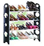 #3: S.Blaze Easy To Assemble Holdable Adjustable Height 4 Shelves | Shoe rack | Shoe Cabinet | 12 Pair Shoe Rack Organizer | Simple Standing Home Organizer Stackable Shoe Rack, Easy To Assemble & Light Weight Foldable 4 Shelves Shoe Rack