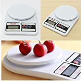 #10: Digital Kitchen Scale Electronic Digital Kitchen Weighing Scale 10 Kgs Weight Measure Spices Vegetable Liquids, Ivory