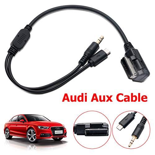 Interface Musicale Adaptateur de C/âble MDI MMI AMI AUX avec Audio AUX 3,5 mm et USB pour Audi A6L A8L Q7 A3 A4L A5 A1 Volkswagen par sweetlife