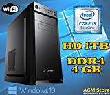 PC DESKTOP FISSO INTEL i3-8100 coffee lake/8° GENERAZIONE/RAM DDR4 4GB/HARD DISK 1TB/SK VIDEO Intel® UHD 630 (integrata)/WI-FI 300/LICENZA WINDOWS 10 PRO INCLUSA/IDEALE CASA E UFFICIO