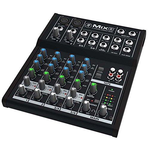 Mackie 25812 Mix8 8-Channel Compact DJ Mischer