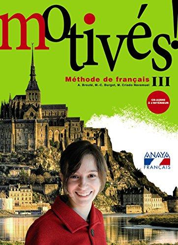 Portada del libro Motivés! III. (Anaya Français) - 9788466787253