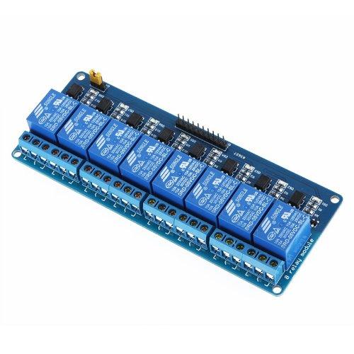 51CA%2B3KGGCL - Kkmoon 8-CH - Placa del módulo de relé de 8 canales (5V)