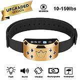 Bark Halsband, Smart Hundebellen Halsband Safe No Bark Training Tool mit LED-Licht Einstellbare Modi / Regendicht / Wiederaufladbare / Safe Shock für alle Größen Hunde verwenden