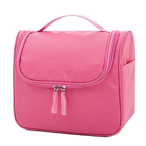 Jia Qing Sacchetto Cosmetico Portatile Impermeabile Delle Signore Sacchetto Cosmetico Portatile Multifunzionale Di Grande Capacità Sacchetto Cosmetico Generale Del Sacchetto Cosmetico Pink