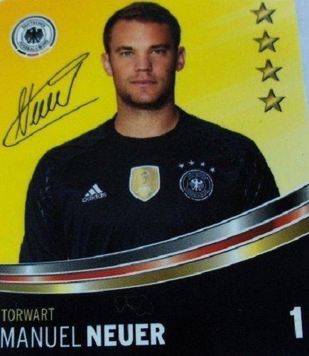 Rewe DFB Sammelkarten EM 2016 Auswahl aus allen 36 und Sammelalbum oder alles komplett (Nr 1 Manuel Neuer)