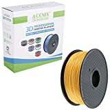 ACENIX® Gold PLA 3D-Druckerfilament, 1 kg Spule, 1,75 mm, Abmessungsgenauigkeit +/- 0,03 mm 1 kg [2,2 LBS] Spool 3D-Filament für 3D-Drucker und 3D-Pens