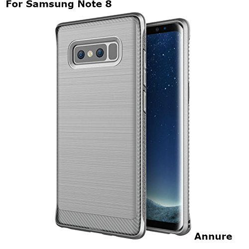 Annure Samsung Galaxy Note 8 Back Cover Case – [Premium Quality] Luxury Armor Shock Proof Soft TPU Back Case for Samsung Galaxy Note 8 (Grey)