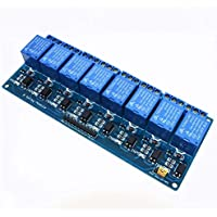 Electrely Módulo Relé de 8 Canales con Optoacoplador (DC 5V), 8 Channel Relay Module para Arduino UNO R3 Kit MEGA 2560 Proyecto 1280 DSP ARM PIC AVR STM32 Raspberry Pi