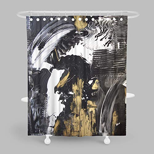 MuaToo Duschvorhang, Motiv Waldbaum, Bedruckt, mit Haken 60