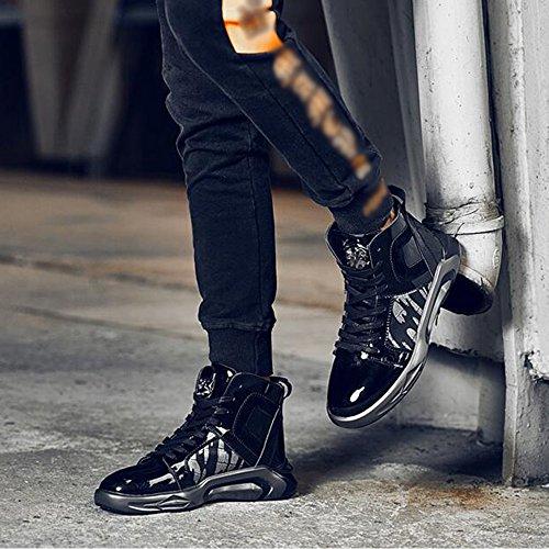 Feifei Scarpe Da Uomo Hiver Mode Personnalité Garder Au Chaud Haute Aide Marée Chaussures 2 Couleurs (couleur: Nero, Dimensions: Eu40 / Uk7 / Cn41) Nero