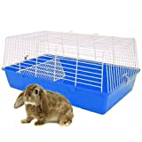 LITTLE FRIENDS Rainbow 59 Rabbit Cage 59 x 35.5 x 31.5cm - Blue Base