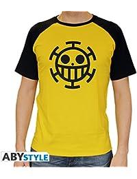 c0da2cbefb9f ABYstyle abystyleabytex218-xxl Abysse One Piece Trafalgar Law Maniche Corte  Uomo Premium t-Shirt