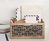 Présentoir de bureau en bois Aheli avec présentoir mobile, support de rangement géométrique, avec 2 sections...