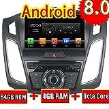 ROADYAKO 9Inch 2Din Auto-Videoplayer für für Ford Focus 2012 2013 2014 2015 2016 Android 8,0 Auto Radio Stereo mit GPS Navigation 3G WiFi Spiegel Link RDS FM AM Bluetooth AUX Audio